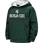 Colosseum Boys' Michigan State Spartans Green Pullover Hoodie