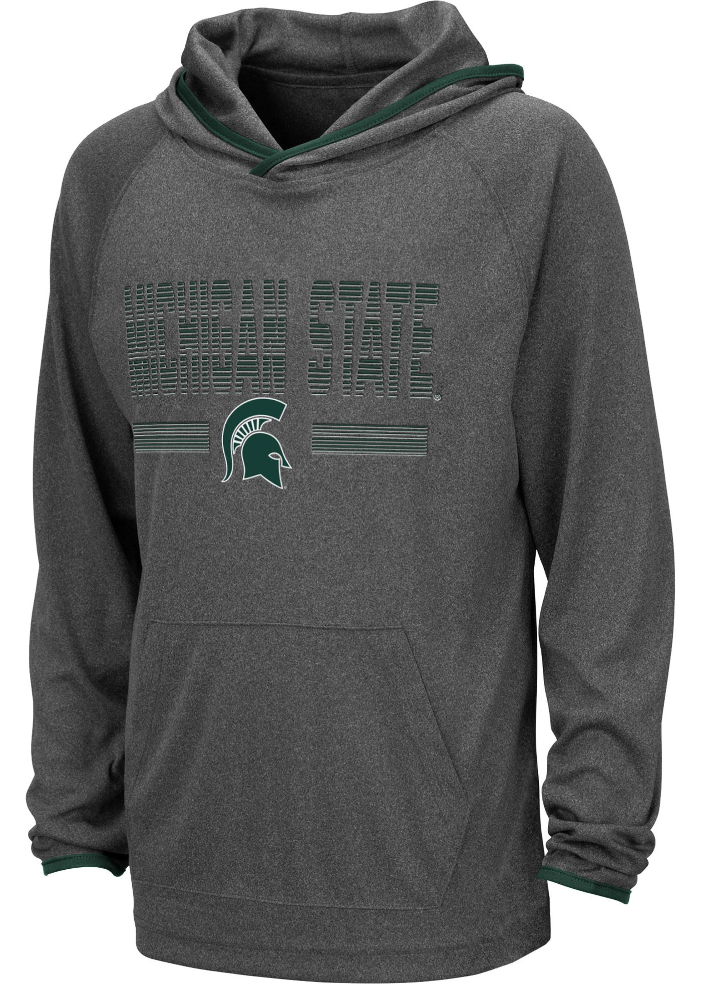 Colosseum Youth Michigan State Spartans Grey Narf! Pullover Hoodie
