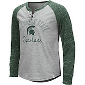 Colosseum Youth Girls' Michigan State Spartans Grey Rita Long Sleeve T-Shirt