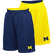 Colosseum Youth Michigan Wolverines Blue/Maize Field Trip Reversible Shorts