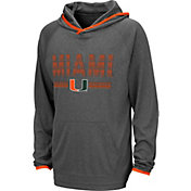 Colosseum Youth Miami Hurricanes Grey Narf! Pullover Hoodie