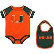 Colosseum Infant Miami Hurricanes Orange Warner 2-Piece Onesie Set