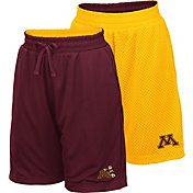 Colosseum Youth Minnesota Golden Gophers Maroon/Gold Field Trip Reversible Shorts