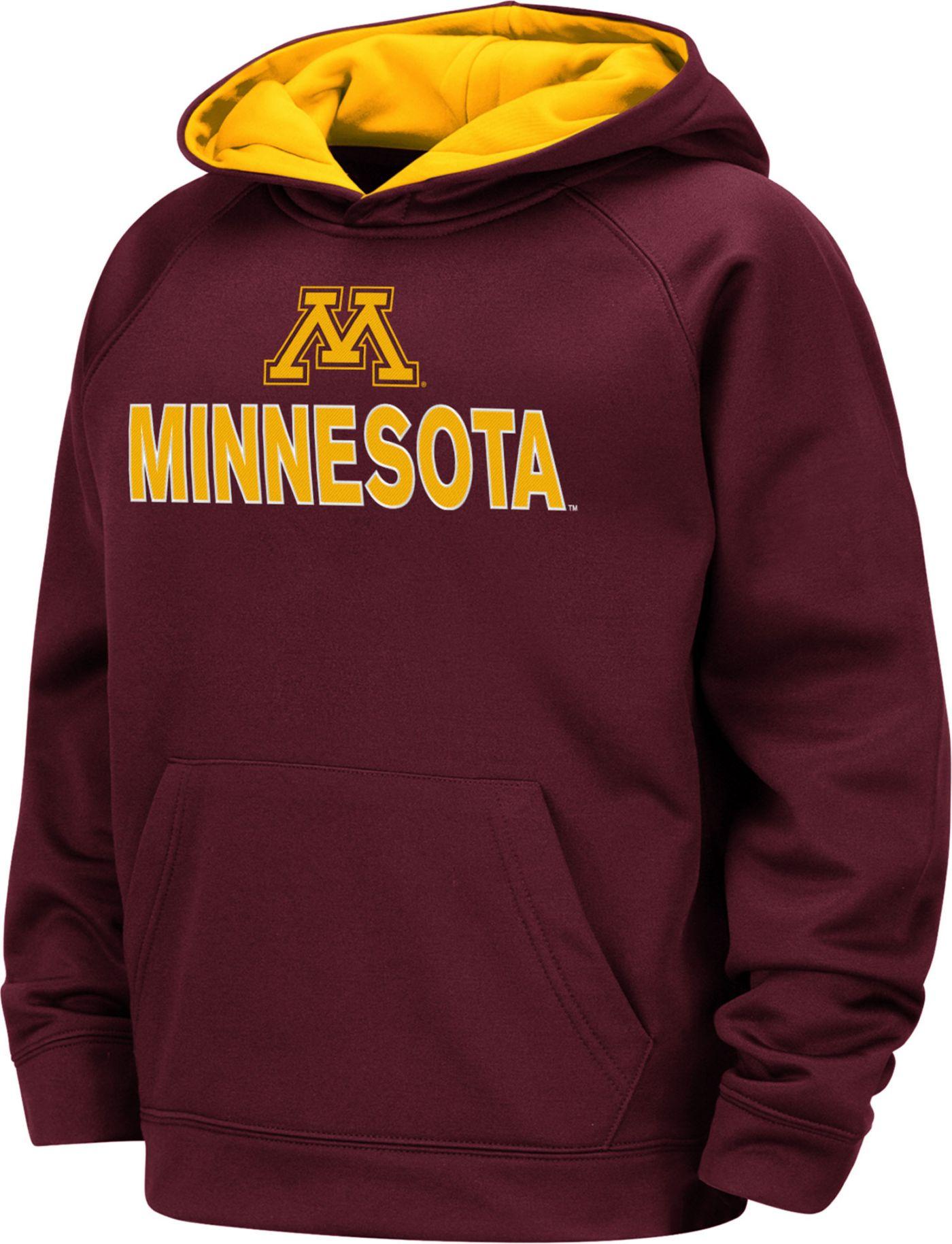 Colosseum Boys' Minnesota Golden Gophers Maroon Pullover Hoodie