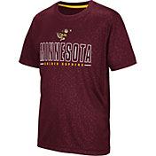 Colosseum Youth Minnesota Golden Gophers Maroon Geoweb T-Shirt