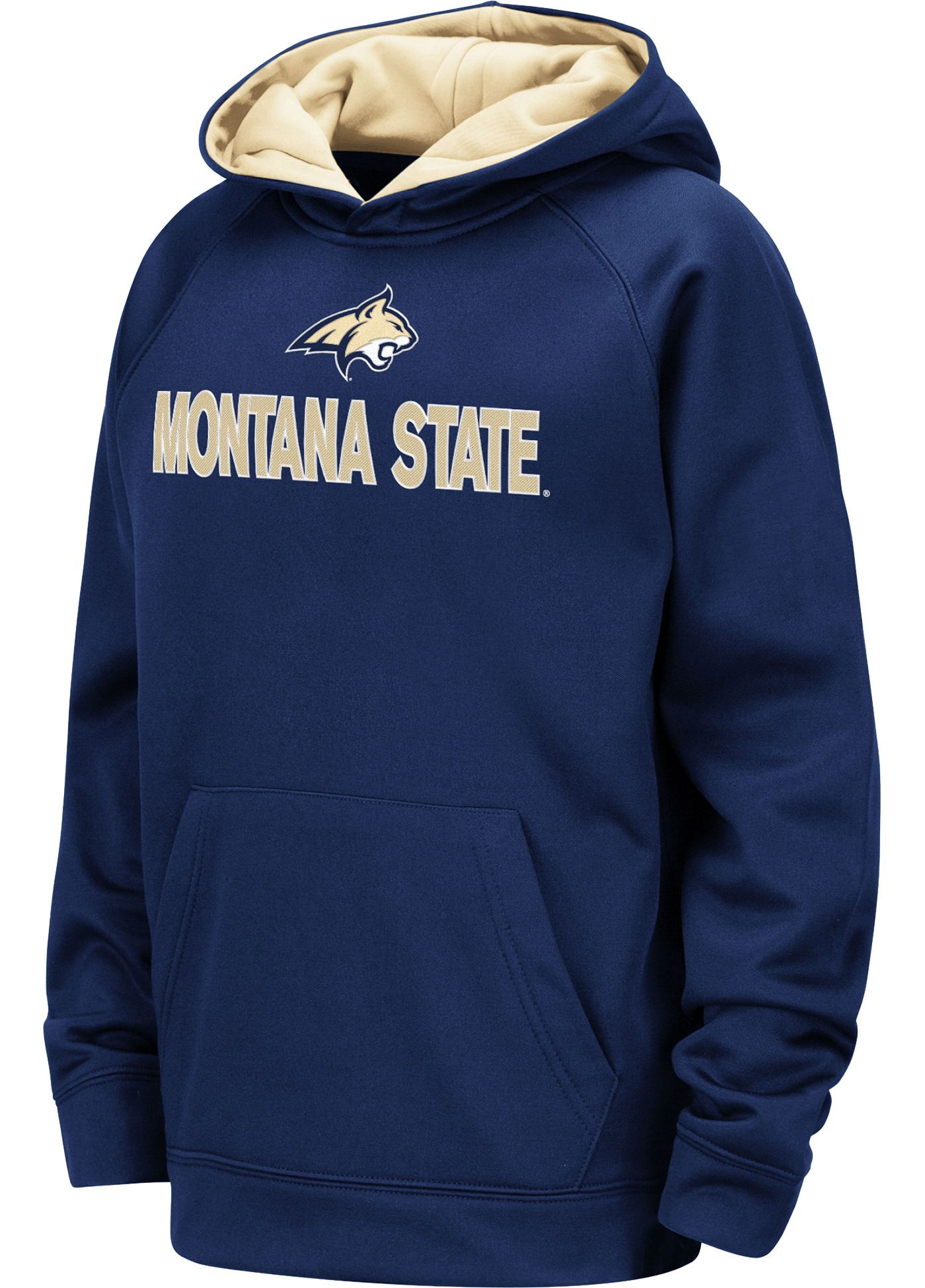 Colosseum Youth Montana State Bobcats Blue Pullover Hoodie