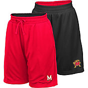Colosseum Youth Maryland Terrapins Red/Black Field Trip Reversible Shorts