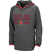 Colosseum Youth Maryland Terrapins Grey Narf! Pullover Hoodie