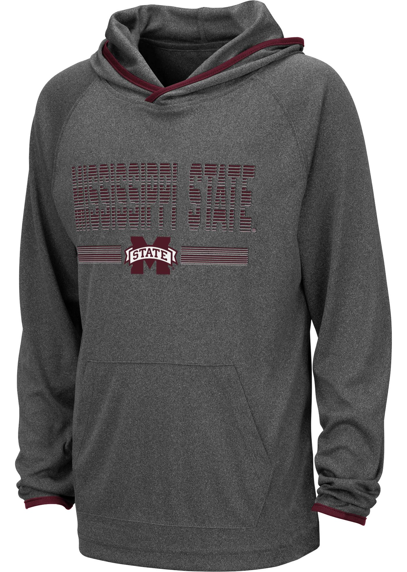 Colosseum Youth Mississippi State Bulldogs Grey Narf! Pullover Hoodie