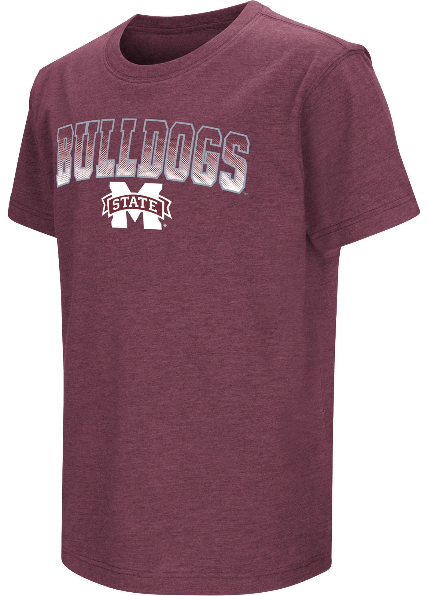 Colosseum Youth Mississippi State Bulldogs Maroon Dual Blend T-Shirt