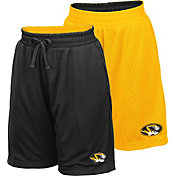 Colosseum Youth Missouri Tigers Black/Gold Field Trip Reversible Shorts