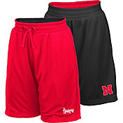 Colosseum Youth Nebraska Cornhuskers Scarlet/Black Field Trip Reversible Shorts