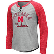 Colosseum Youth Girls' Nebraska Cornhuskers Grey Rita Long Sleeve T-Shirt