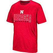 Colosseum Youth Nebraska Cornhuskers Scarlet Geoweb T-Shirt