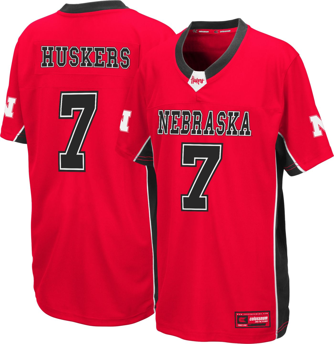 Colosseum Youth Nebraska Cornhuskers Scarlet Max Power Football Jersey
