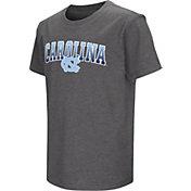Colosseum Youth North Carolina Tar Heels Grey Dual Blend T-Shirt