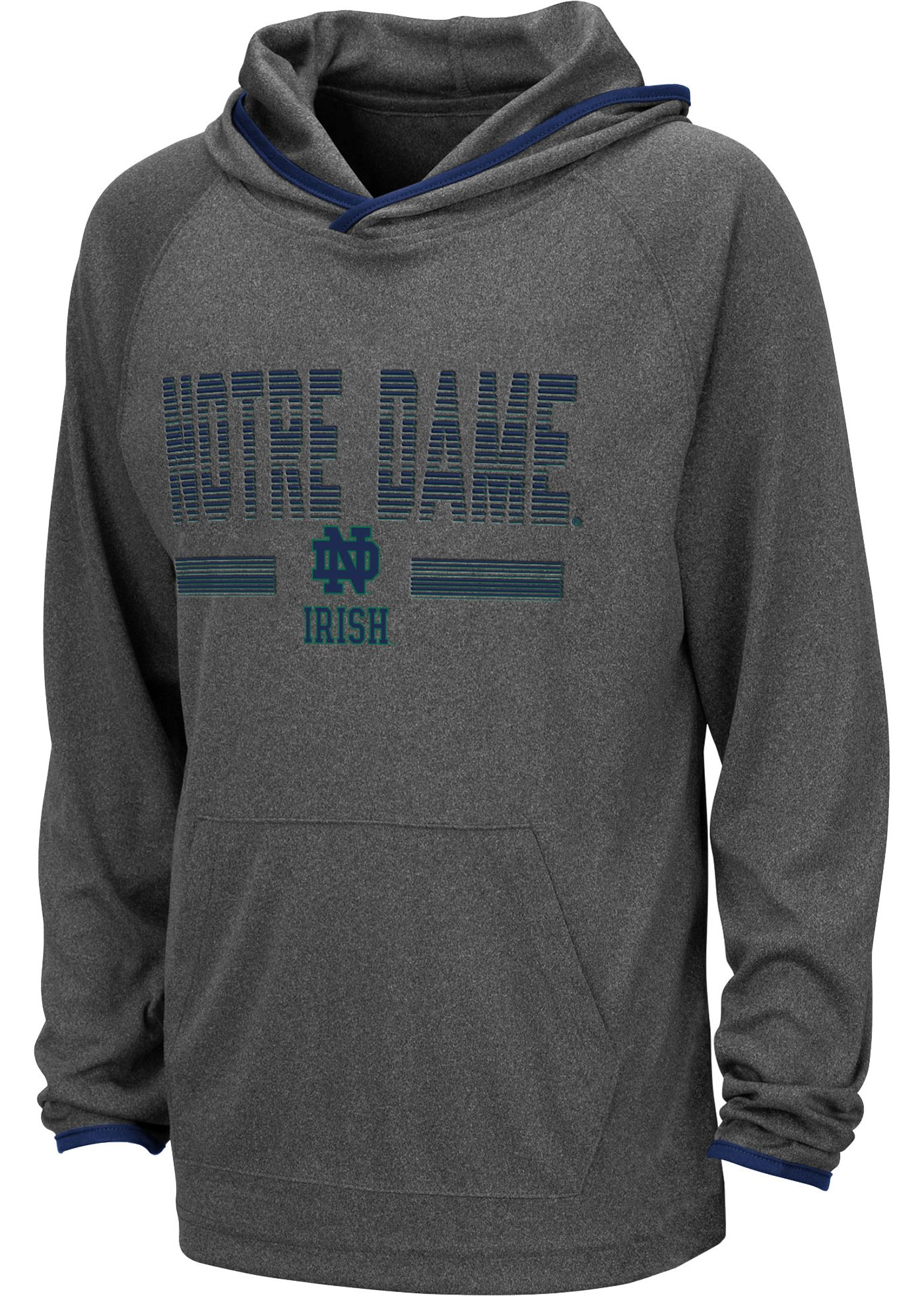 Colosseum Youth Notre Dame Fighting Irish Grey Narf! Pullover Hoodie