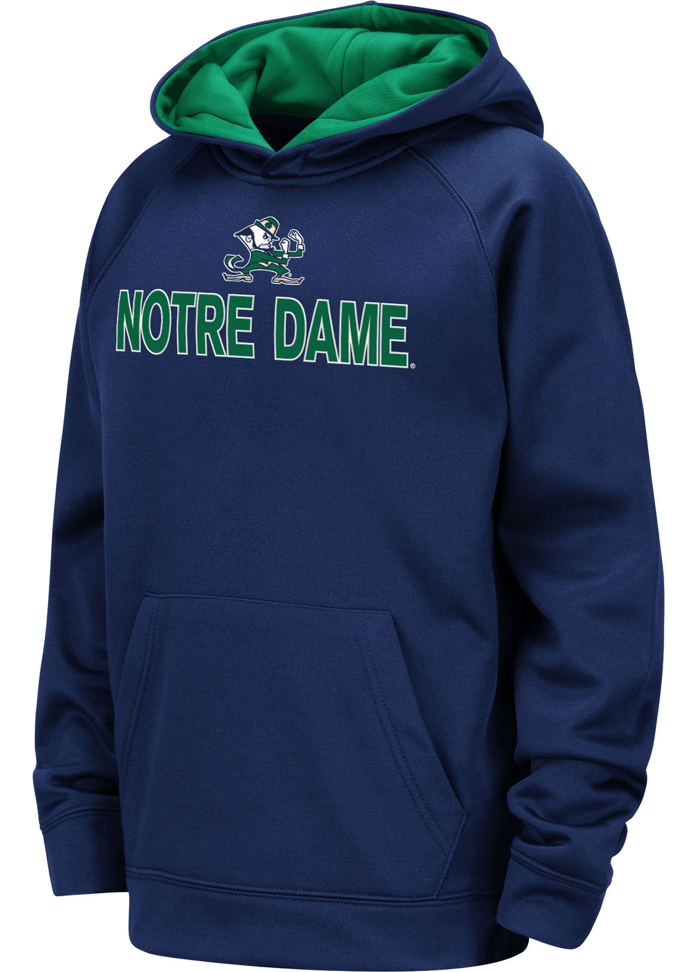 Colosseum Youth Notre Dame Fighting Irish Navy Pullover Hoodie