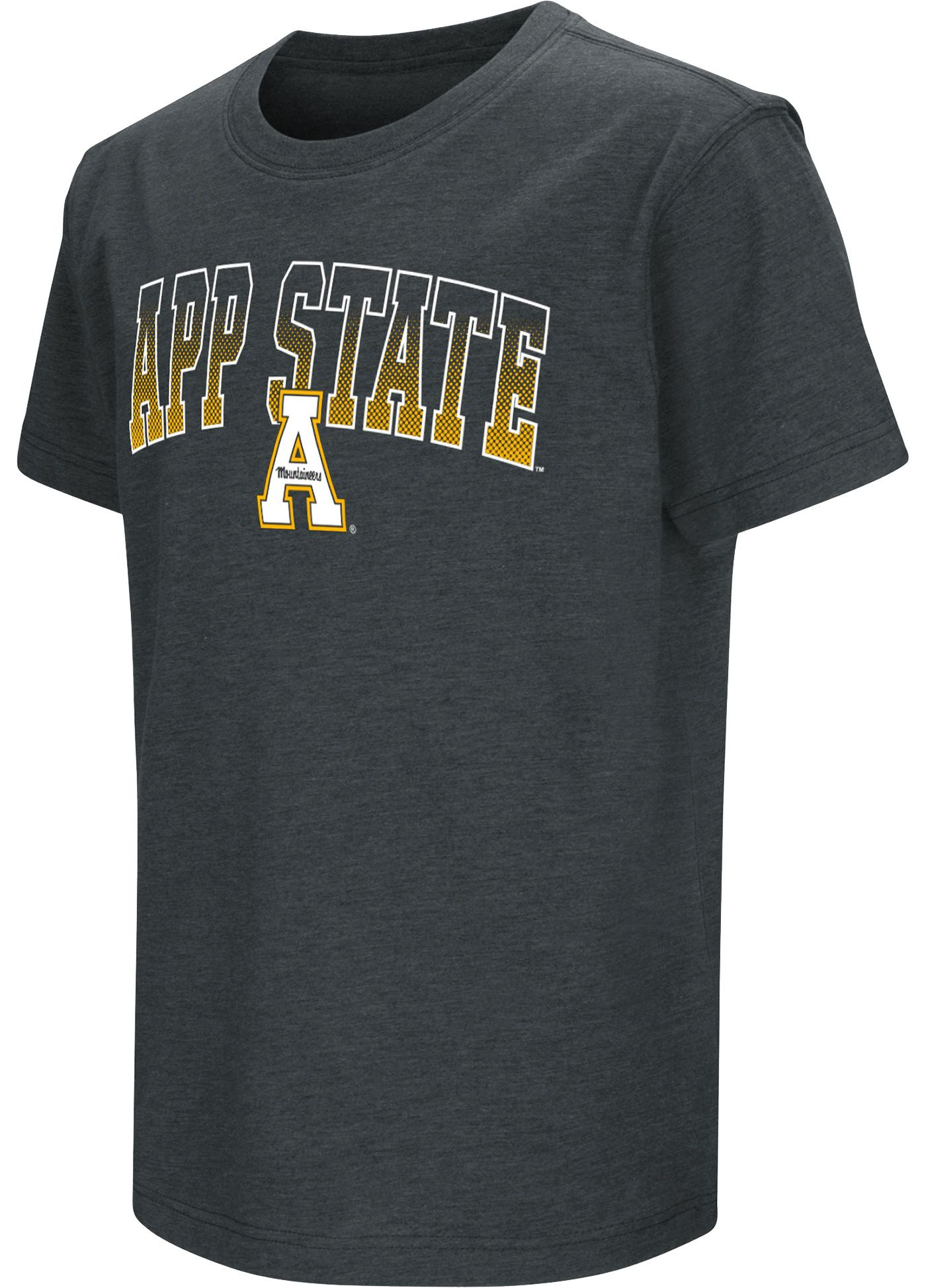 Colosseum Youth Appalachian State Mountaineers Dual Blend Black T-Shirt