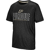 Colosseum Youth Purdue Boilermakers Geoweb Black T-Shirt