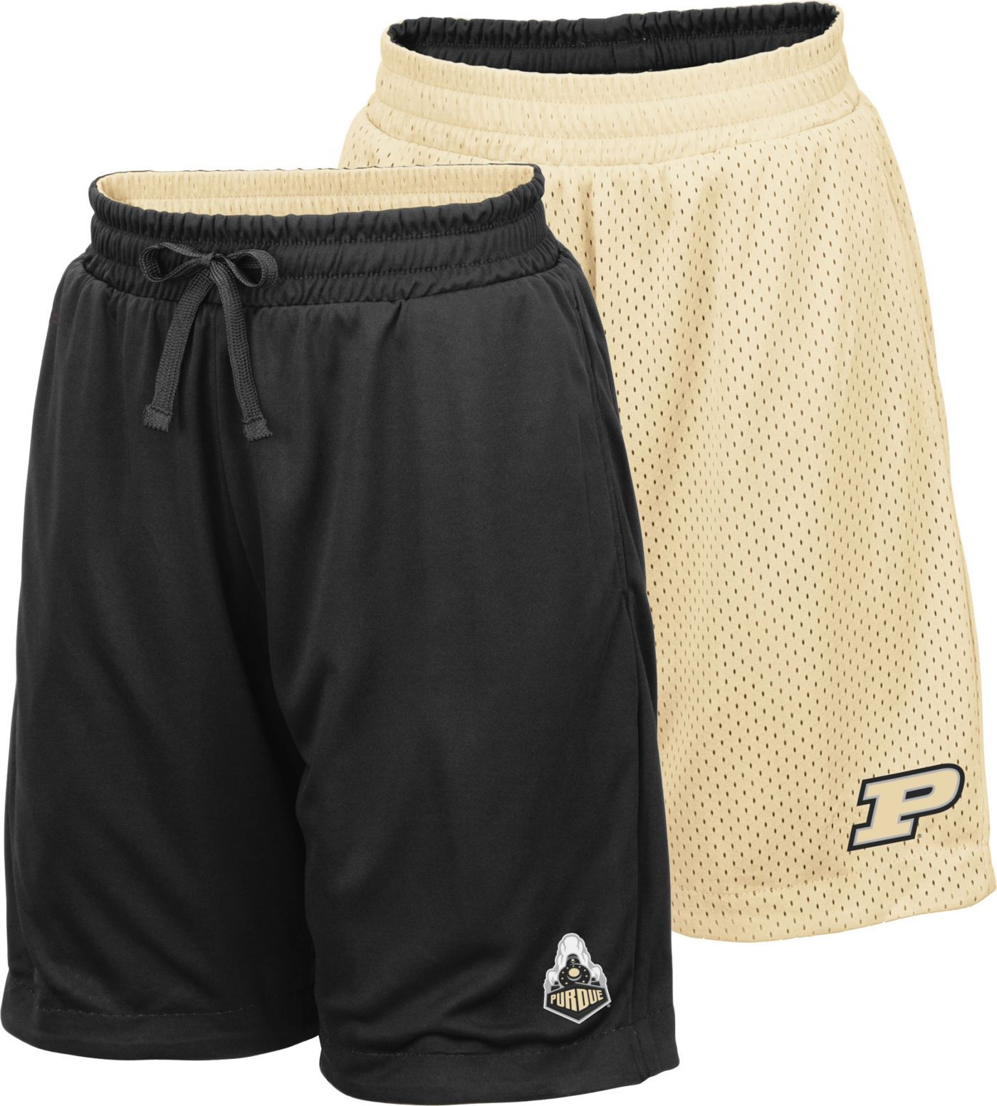 Colosseum Youth Purdue Boilermakers Black/Gold Field Trip Reversible Shorts