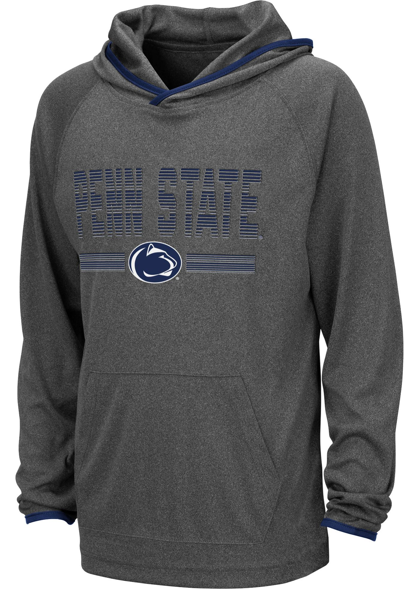 Colosseum Youth Penn State Nittany Lions Grey Narf! Pullover Hoodie