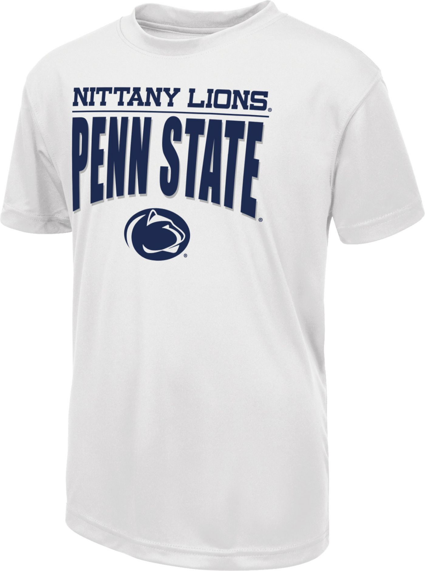 Colosseum Youth Penn State Nittany Lions 'White Out' Dual Blend Football T-Shirt