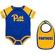 Colosseum Infant Pitt Panthers Blue Warner 2-Piece Onesie Set