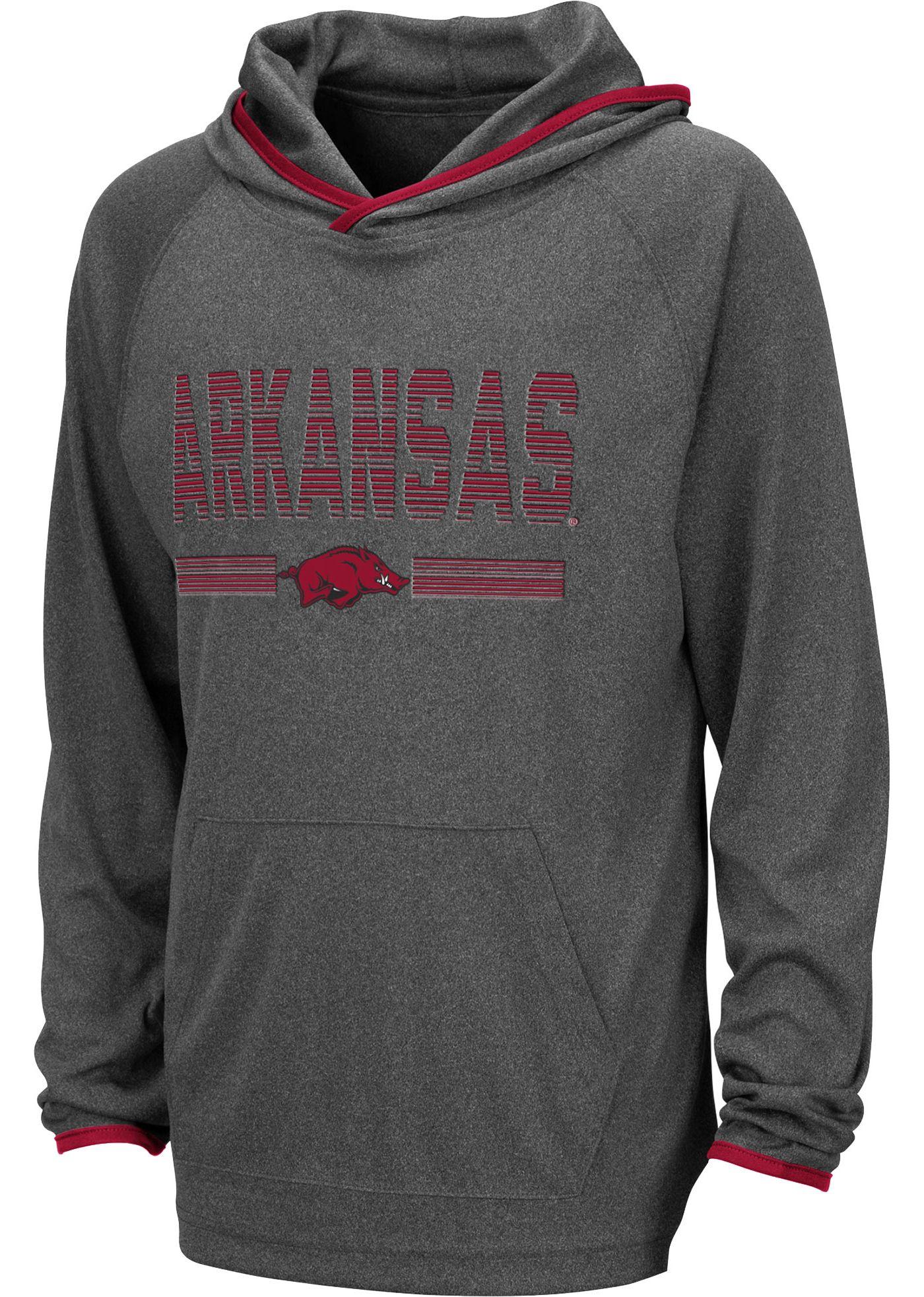 Colosseum Youth Arkansas Razorbacks Grey Narf! Pullover Hoodie