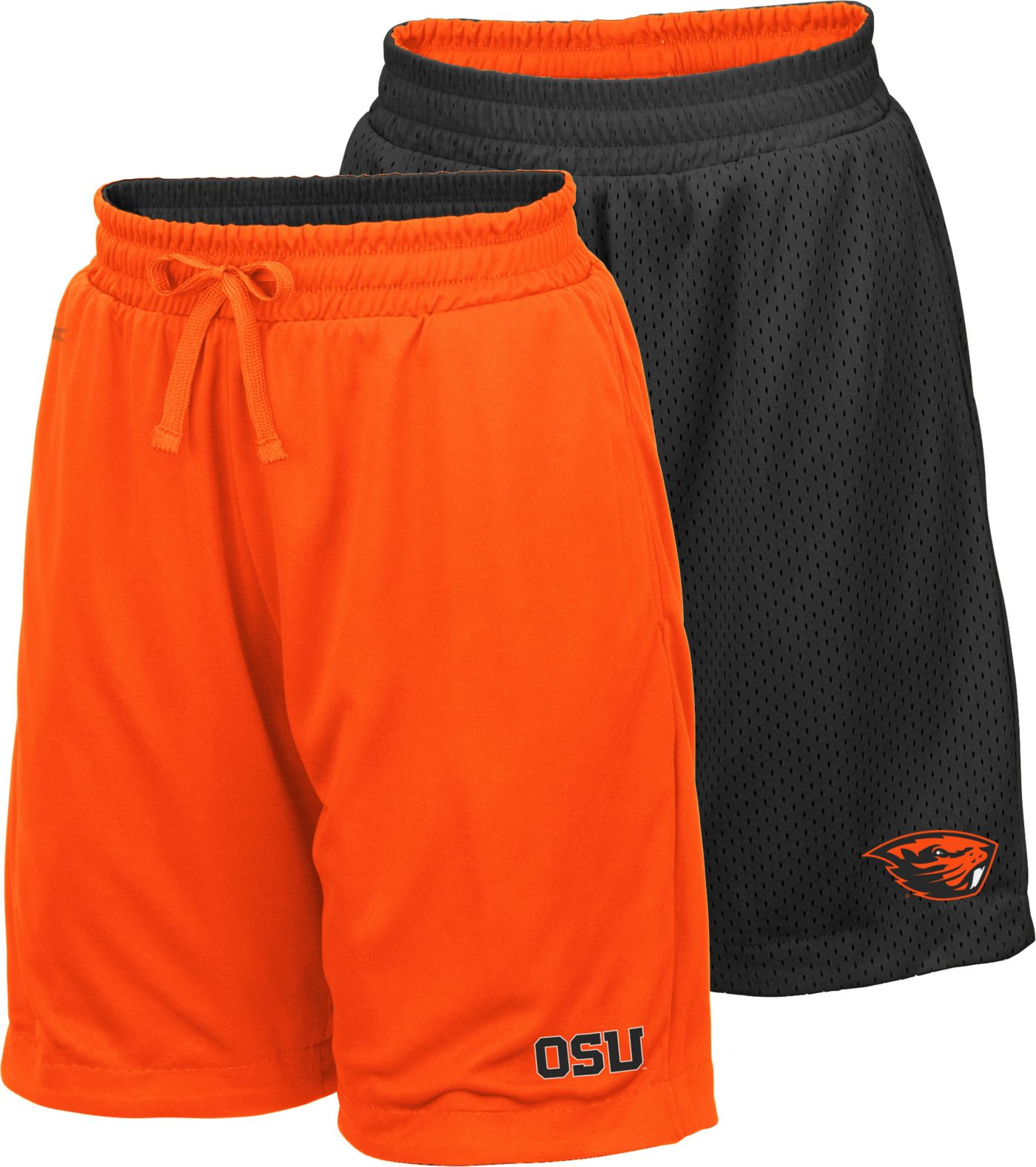 Colosseum Youth Oregon State Beavers Orange/Black Field Trip Reversible Shorts