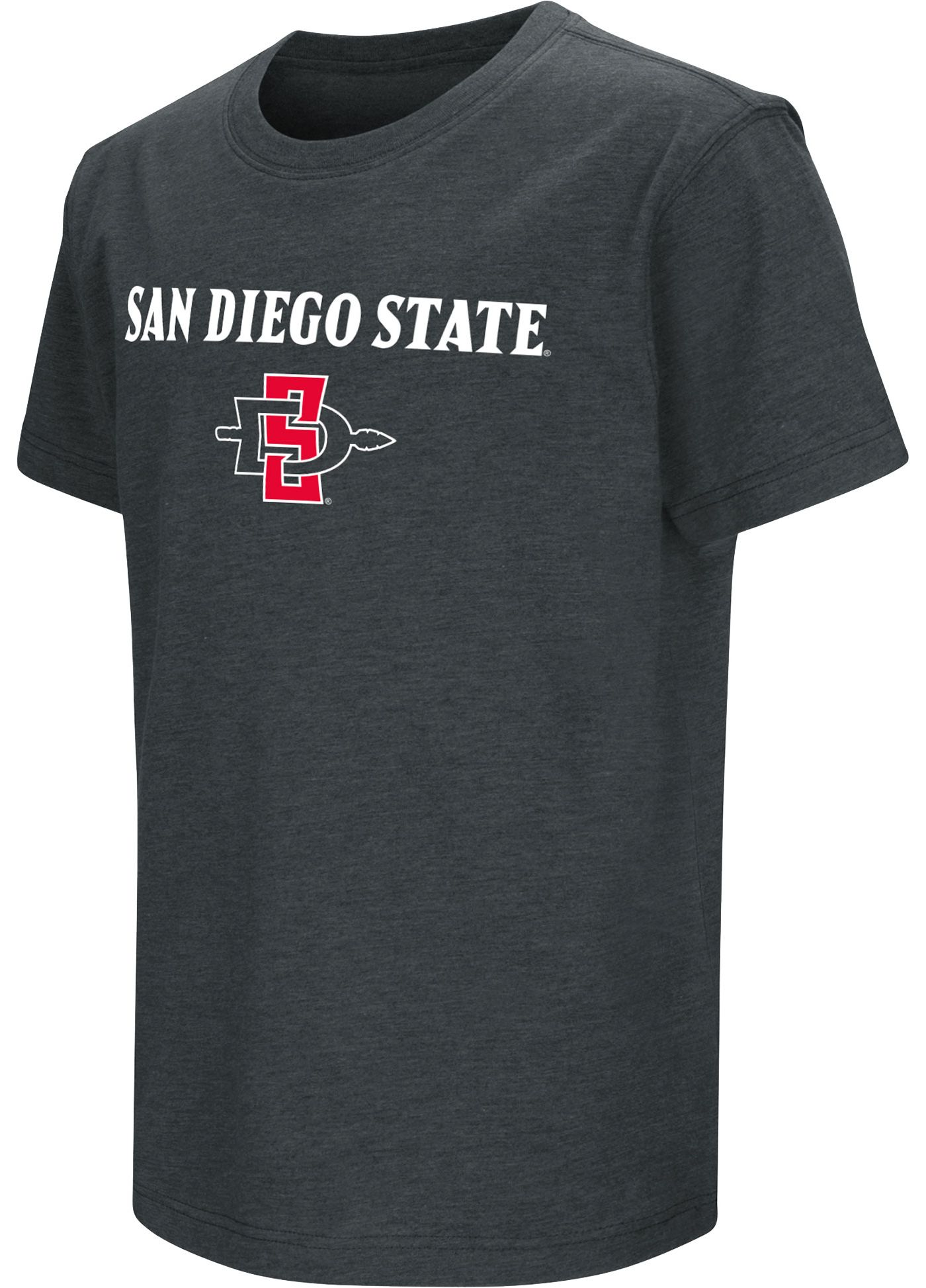 Colosseum Youth San Diego State Aztecs Dual Blend Black T-Shirt
