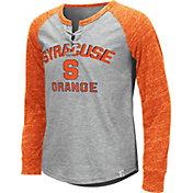 Colosseum Youth Girls' Syracuse Orange Grey Rita Long Sleeve T-Shirt