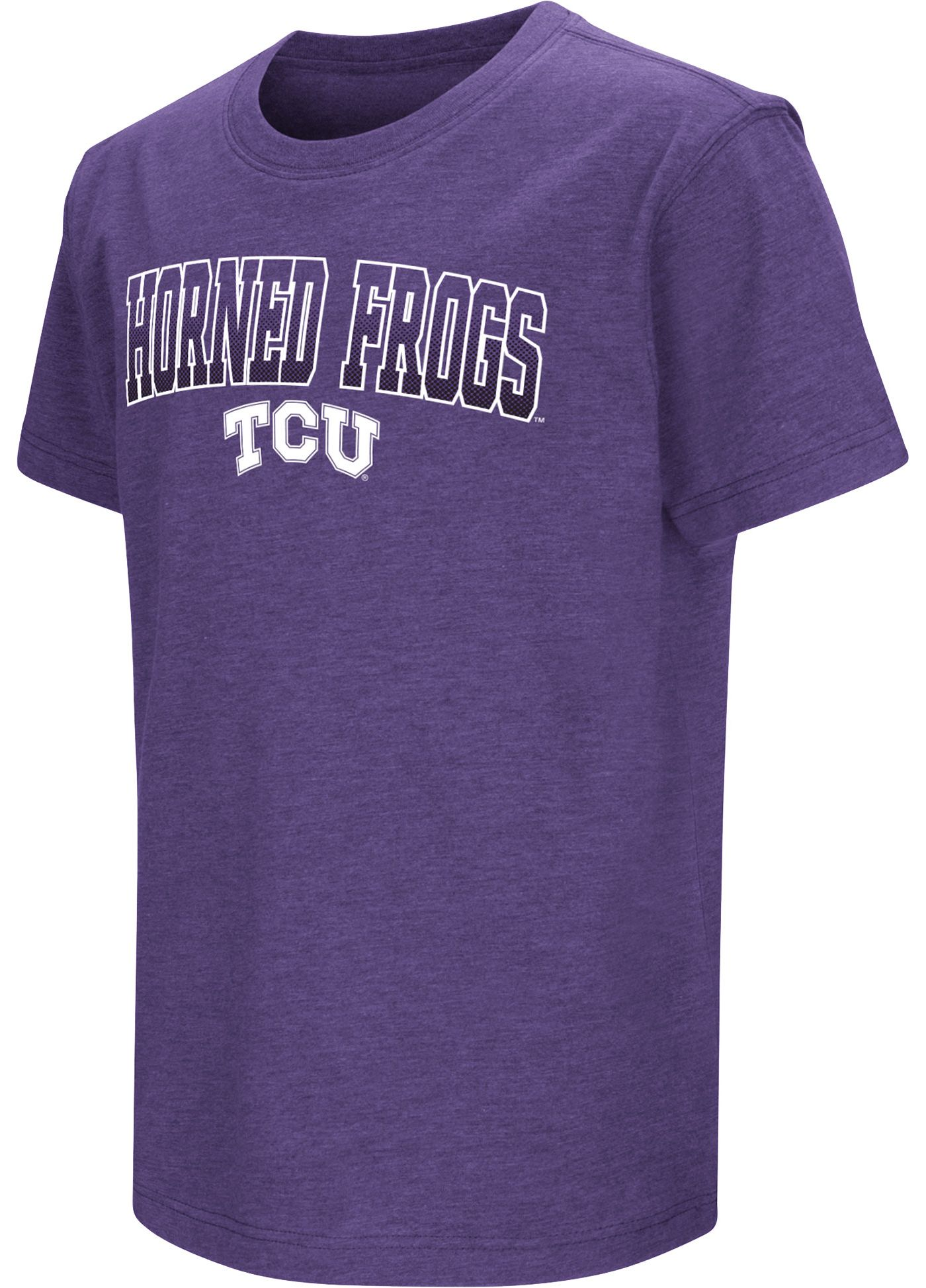 Colosseum Youth TCU Horned Frogs Purple Dual Blend T-Shirt