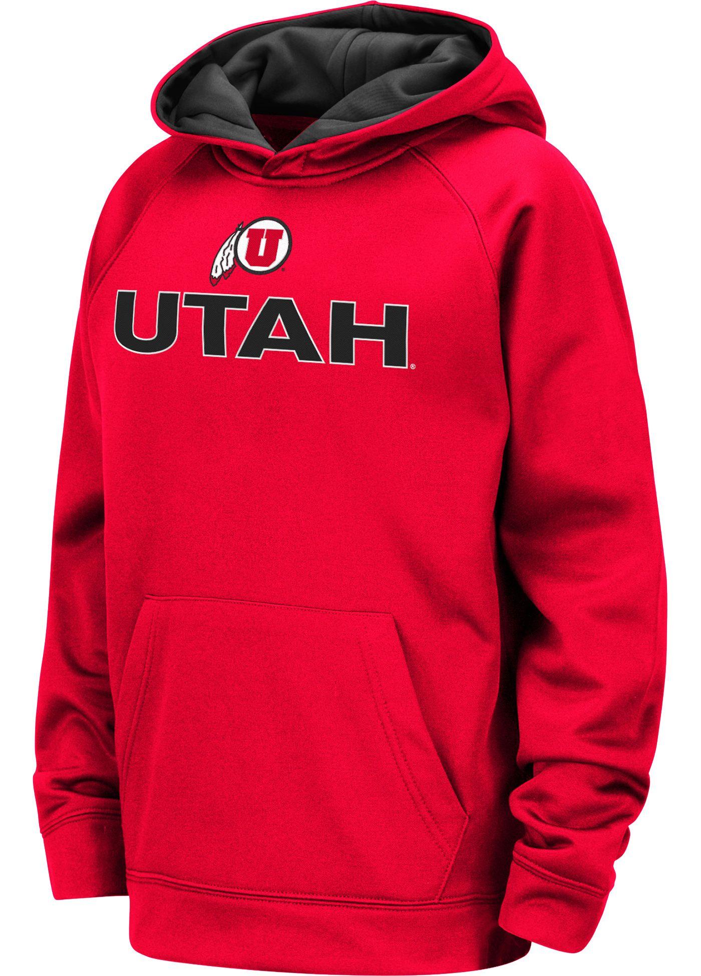 Colosseum Youth Utah Utes Crimson Pullover Hoodie