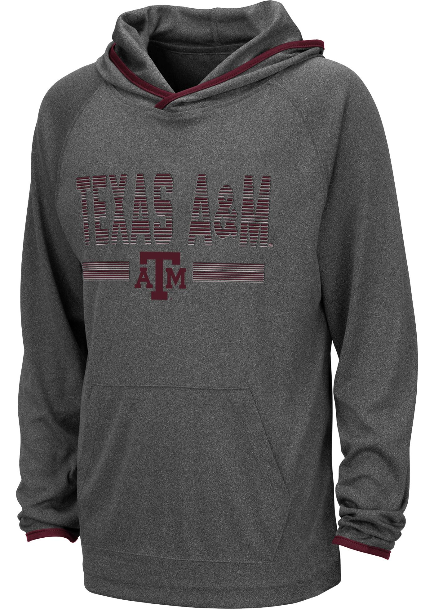 Colosseum Youth Texas A&M Aggies Grey Narf! Pullover Hoodie