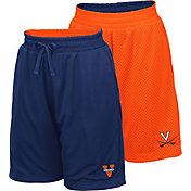 Colosseum Youth Virginia Cavaliers Blue/Orange Field Trip Reversible Shorts