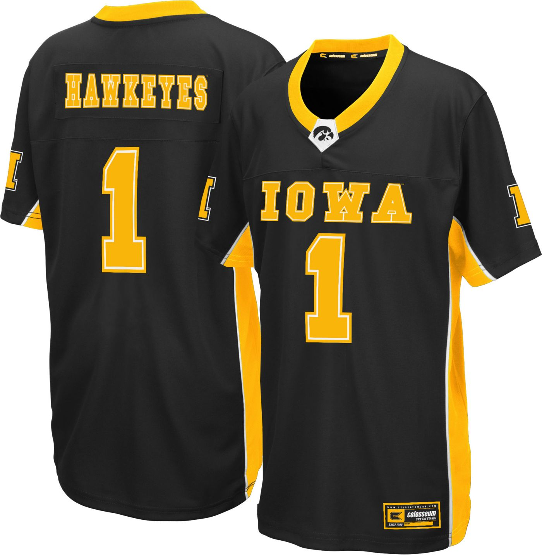Colosseum Youth Iowa Hawkeyes Max Power Football Black Jersey