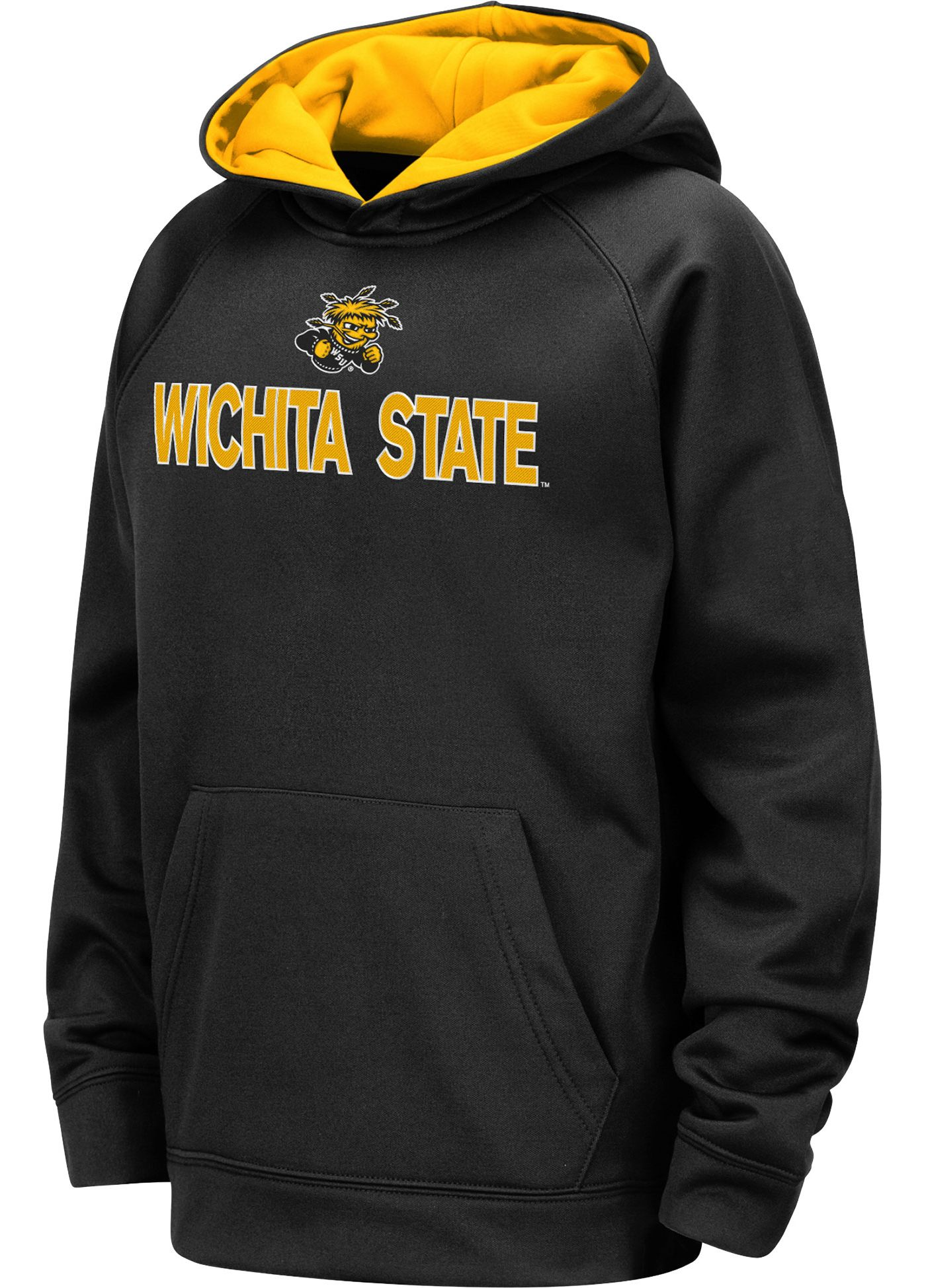 Colosseum Youth Wichita State Shockers Pullover Black Hoodie
