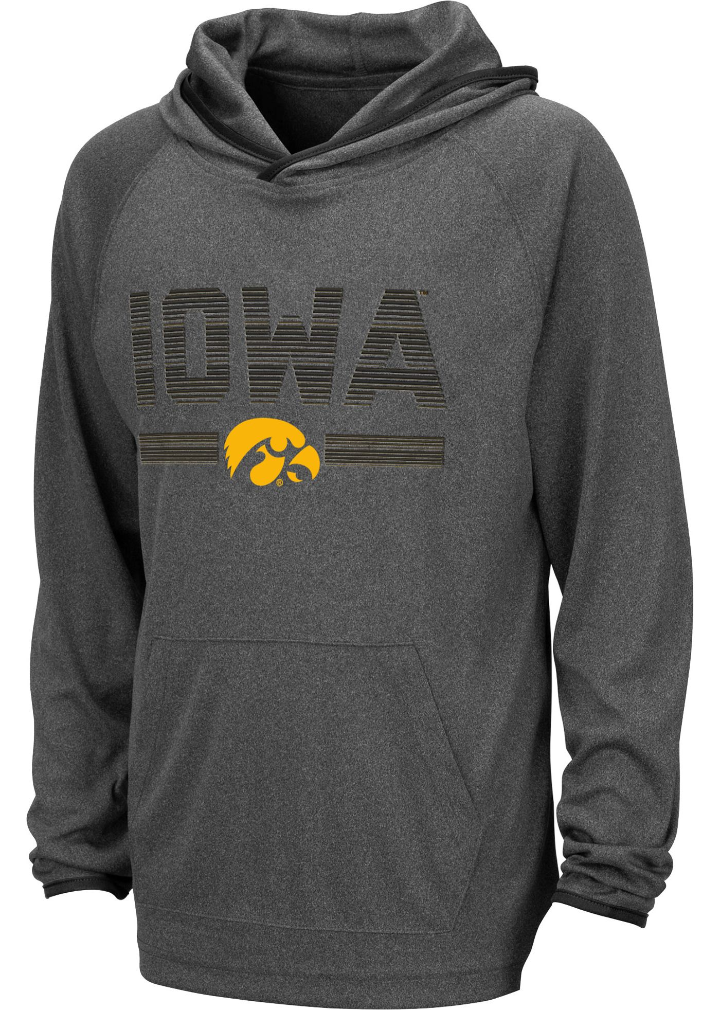 Colosseum Youth Iowa Hawkeyes Grey Narf! Pullover Hoodie