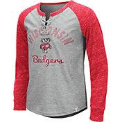 Colosseum Youth Girls' Wisconsin Badgers Grey Rita Long Sleeve T-Shirt