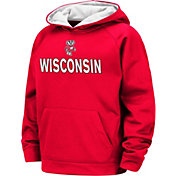 Colosseum Boys' Wisconsin Badgers Red Pullover Hoodie