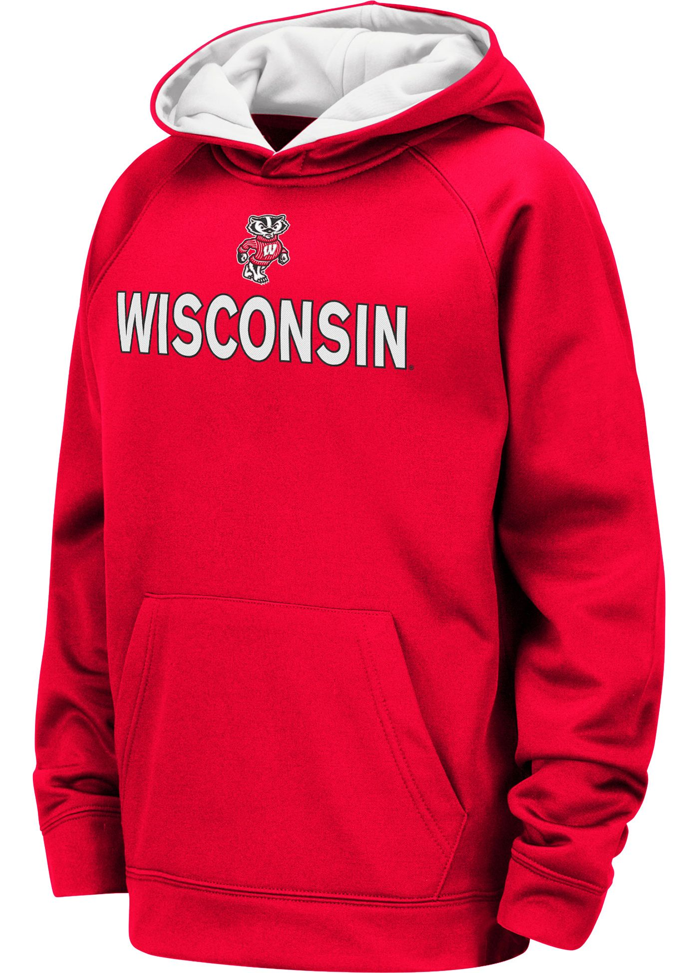 Colosseum Youth Wisconsin Badgers Red Pullover Hoodie