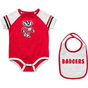 Colosseum Infant Wisconsin Badgers Red Warner 2-Piece Onesie Set
