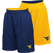 Colosseum Youth West Virginia Mountaineers Blue/Gold Field Trip Reversible Shorts