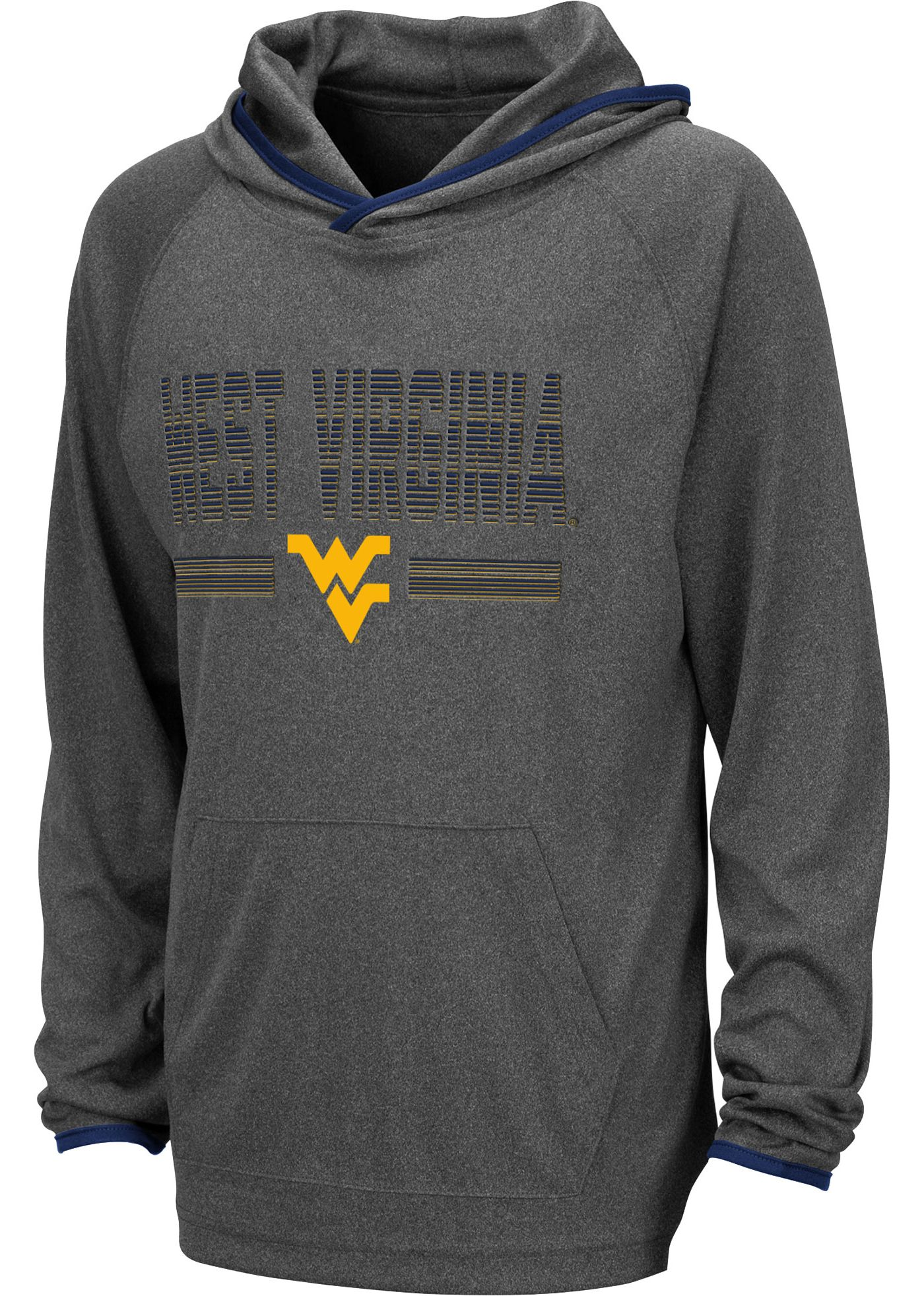 Colosseum Youth West Virginia Mountaineers Grey Narf! Pullover Hoodie