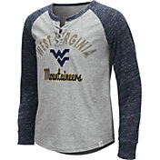 Colosseum Youth Girls' West Virginia Mountaineers Grey Rita Long Sleeve T-Shirt