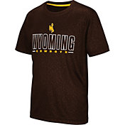 Colosseum Youth Wyoming Cowboys Brown Geoweb T-Shirt