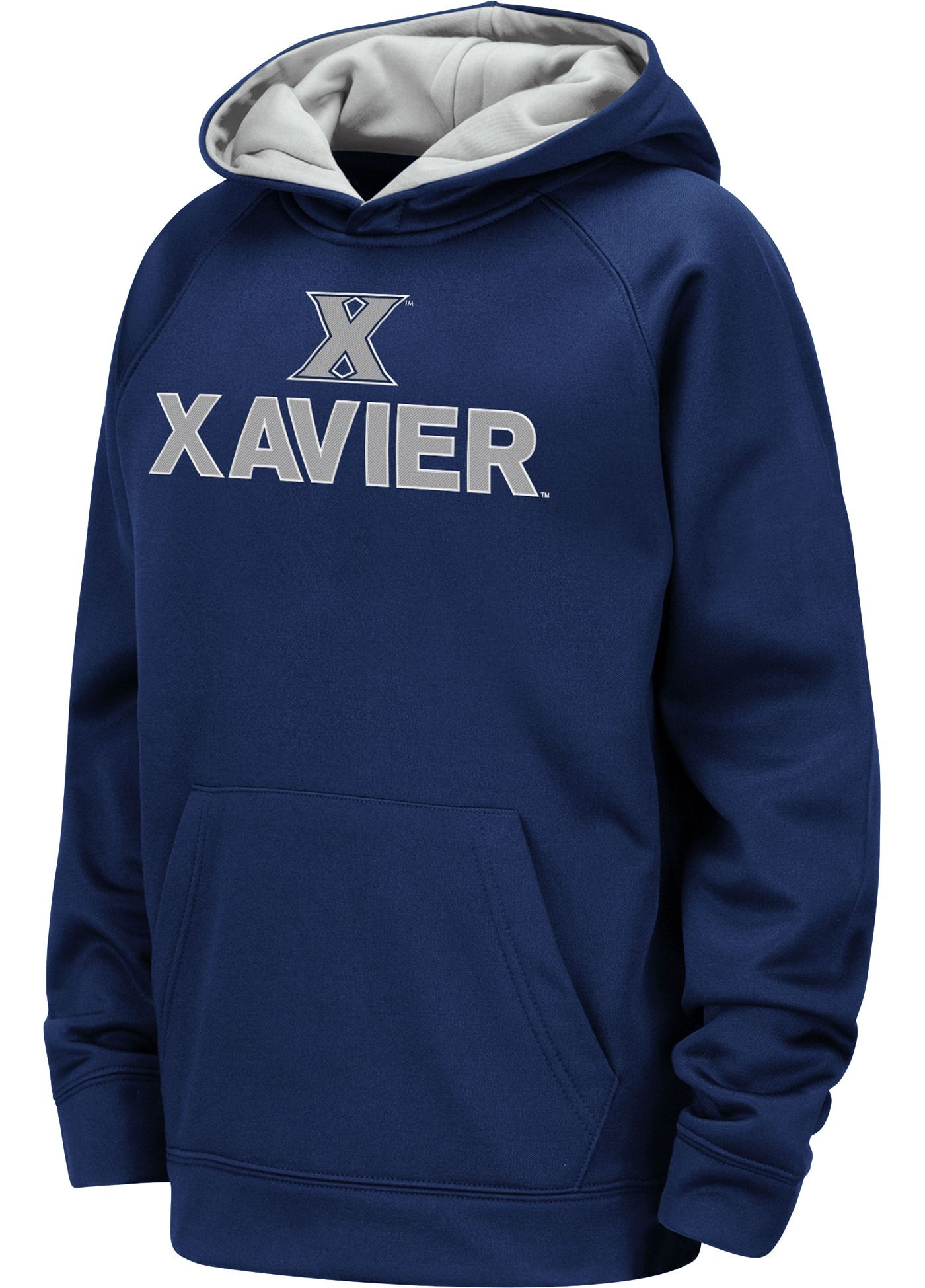 Colosseum Youth Xavier Musketeers Blue Pullover Hoodie