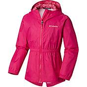 Columbia Girls' Dollia Rain Jacket in Haute Pink