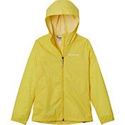 Columbia Girls' Switchback II Rain Jacket in Buttercup